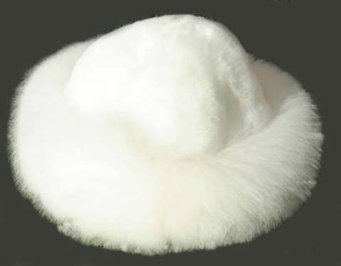 White Russian Fur Hat