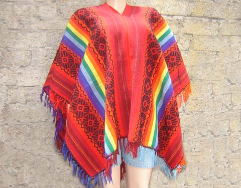 Andean Wool Poncho